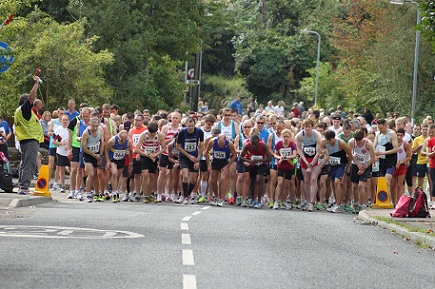 The start of the old Moulton Road race that we organised until 2013.